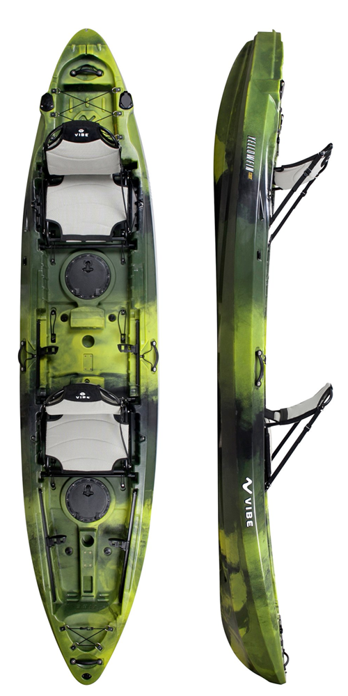 Yellowfin 130 tandem in moss camo